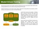 model driven testing
