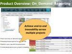 product overview on demand reporting