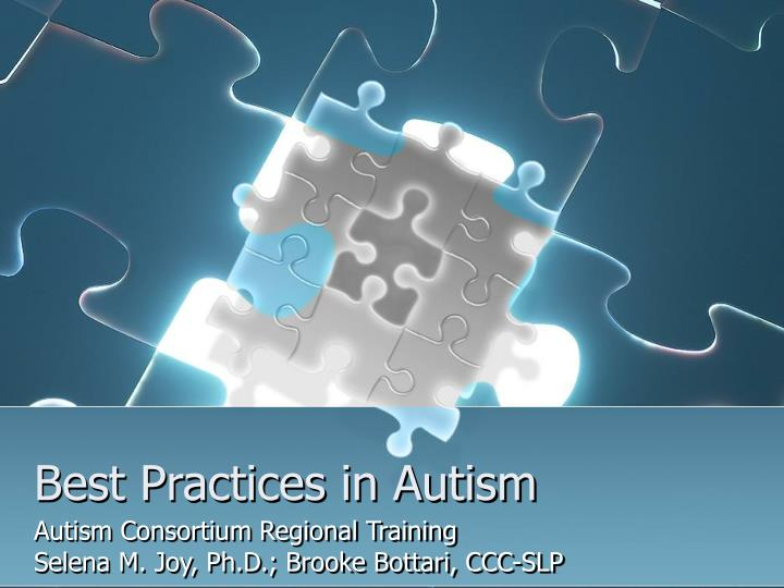 best practices in autism n.