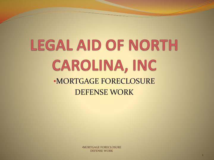 legal aid of north carolina inc n.
