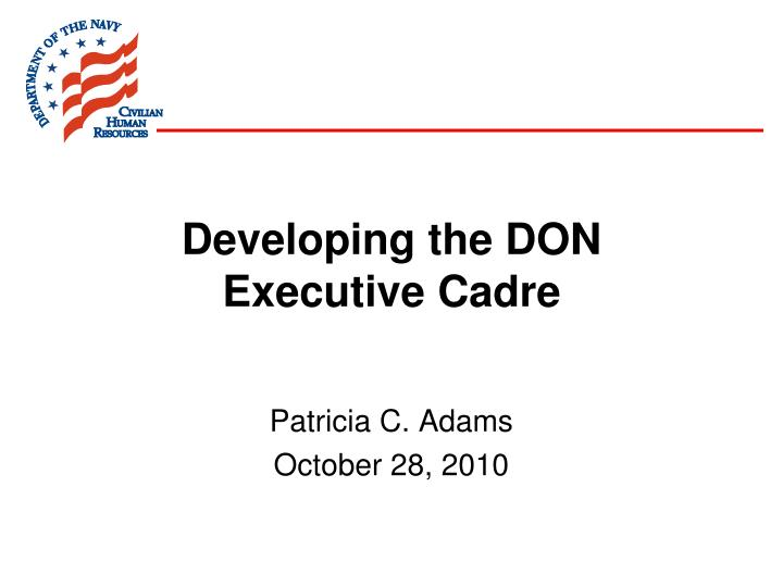developing the don executive cadre n.