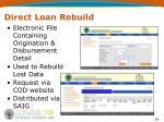 direct loan rebuild