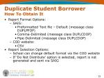 duplicate student borrower how to obtain it1