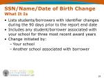 ssn name date of birth change what it is