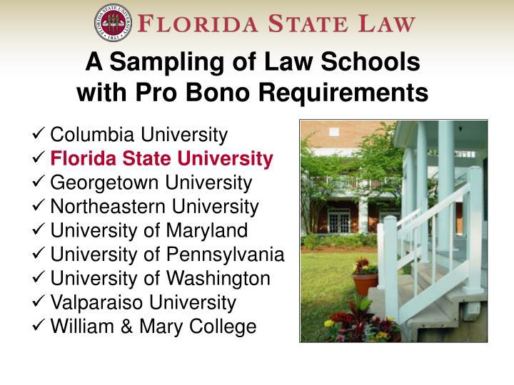 A Sampling of Law Schools