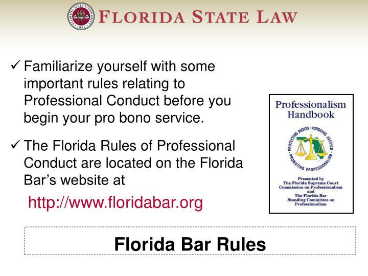 Florida Bar Rules