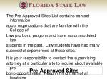 pre approved sites
