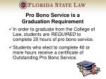 pro bono service is a graduation requirement