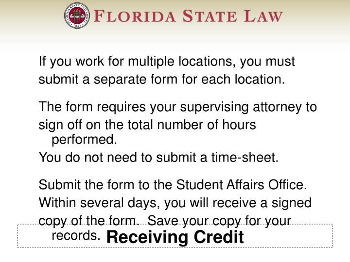 Receiving Credit