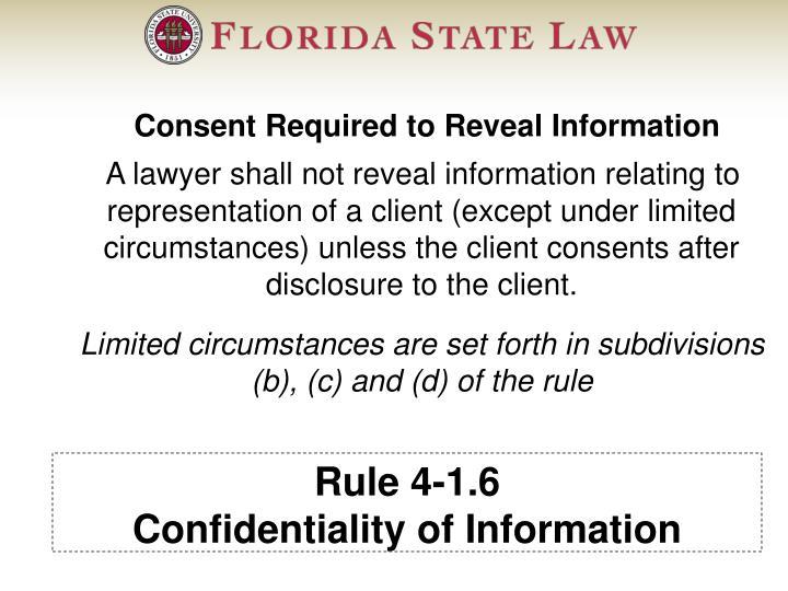 Rule 4-1.6