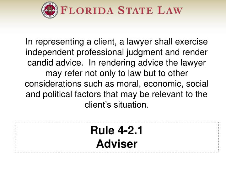 Rule 4-2.1