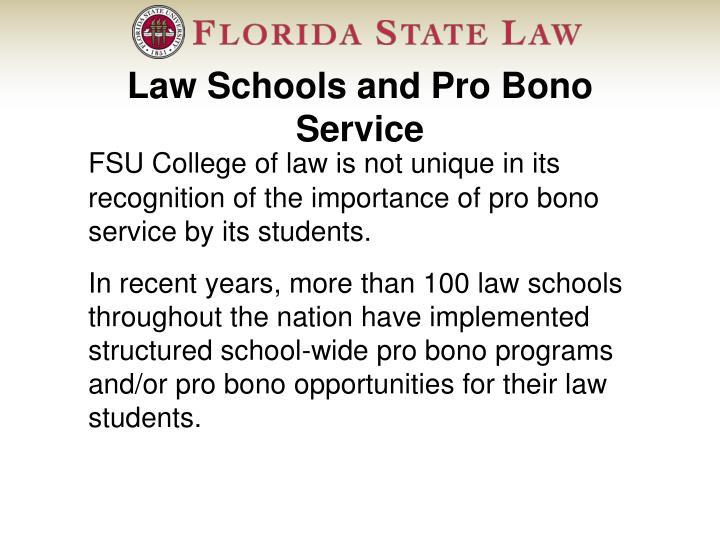 Law Schools and Pro Bono Service