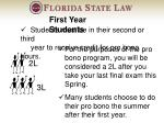 students must be in their second or third year to receive credit for pro bono hours