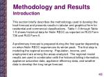 methodology and results introduction
