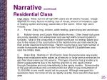 narrative continued residential class1