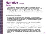 narrative continued soils