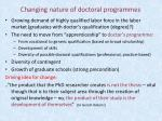 changing nature of doctoral programmes