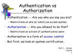 authentication vs authorization