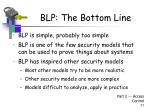 blp the bottom line
