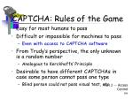 captcha rules of the game