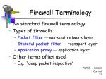 firewall terminology