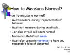 how to measure normal