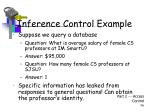 inference control example
