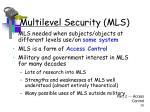 multilevel security mls