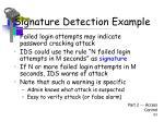 signature detection example