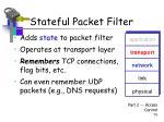 stateful packet filter