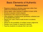 basic elements of authentic assessment