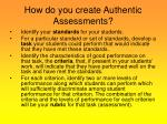 how do you create authentic assessments