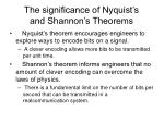 the significance of nyquist s and shannon s theorems
