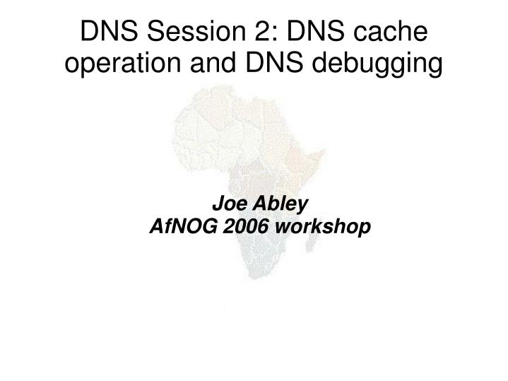 joe abley afnog 2006 workshop n.