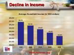 decline in income