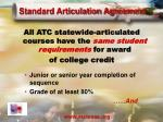 standard articulation agreement
