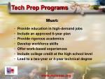 tech prep programs