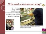 who works in manufacturing