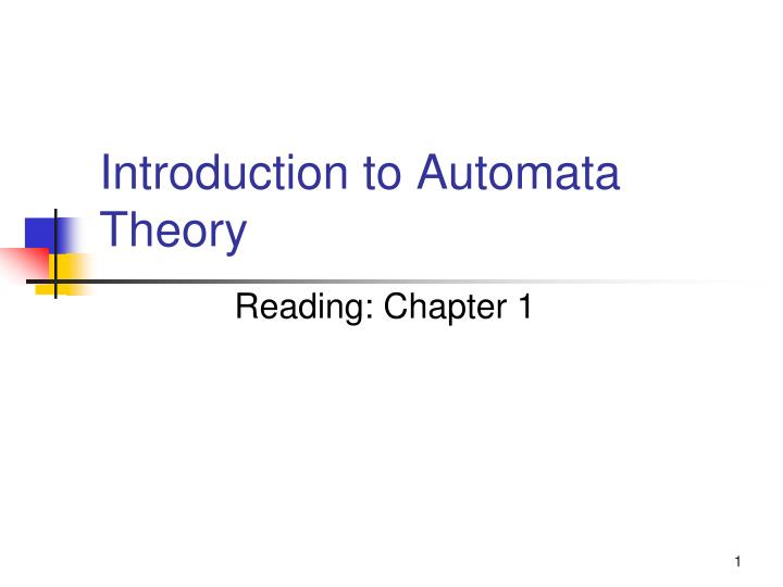 introduction to automata theory n.