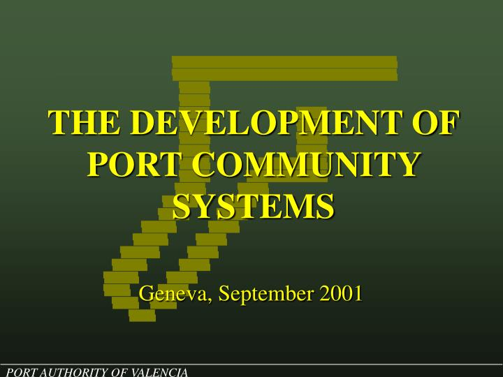 the development of port community systems n.