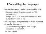 pda and regular languages