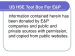 us hse tool box for e p3