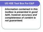 us hse tool box for e p4