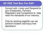 us hse tool box for e p8