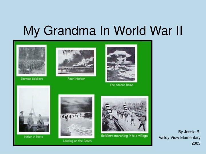 my grandma in world war ii n.