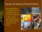 causes of austere environments