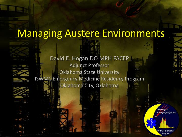 managing austere environments n.