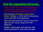 and the expanding universe