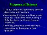 progress of science