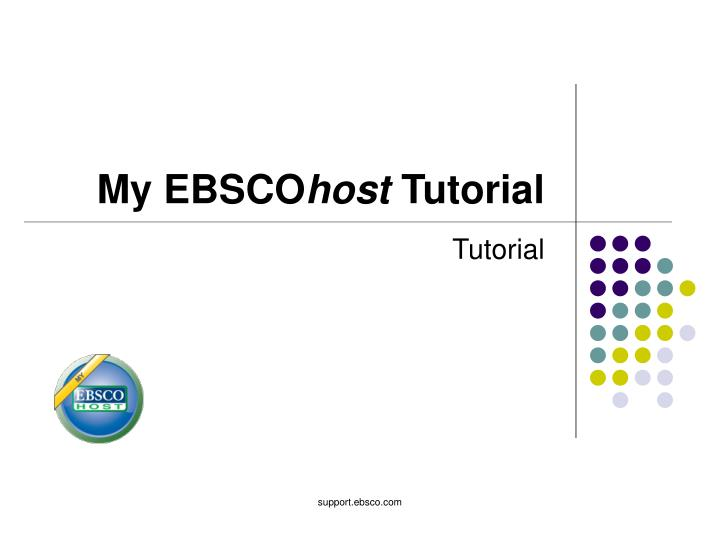 my ebsco host tutorial n.